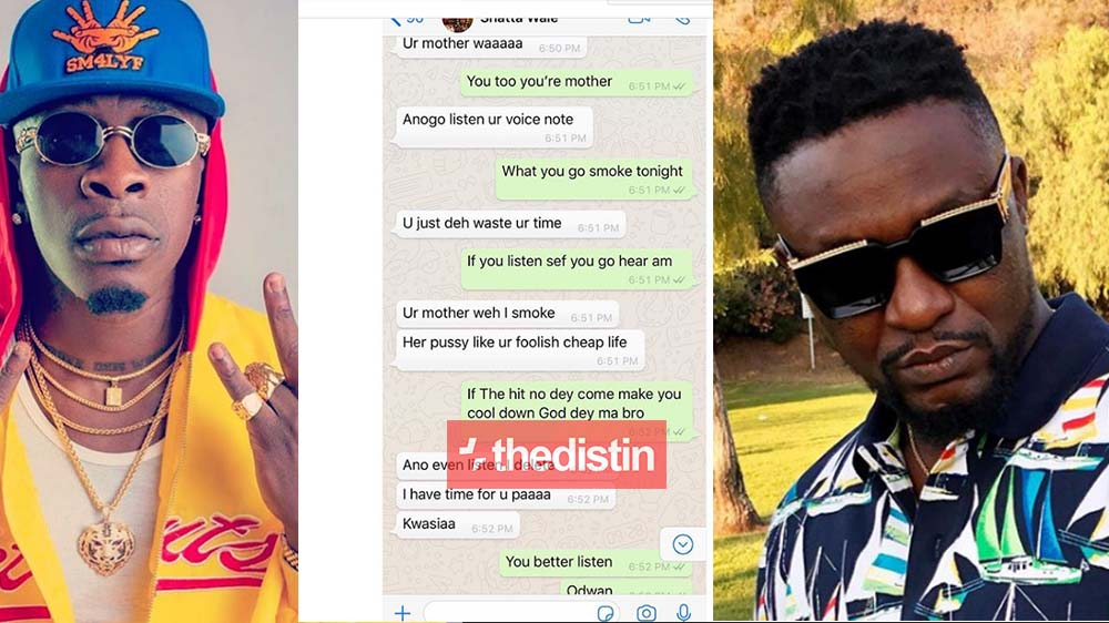 """Your Mother Waa"" - Archipalago Leaks WhatsApp Chat As Shatta Wale Insults Him 