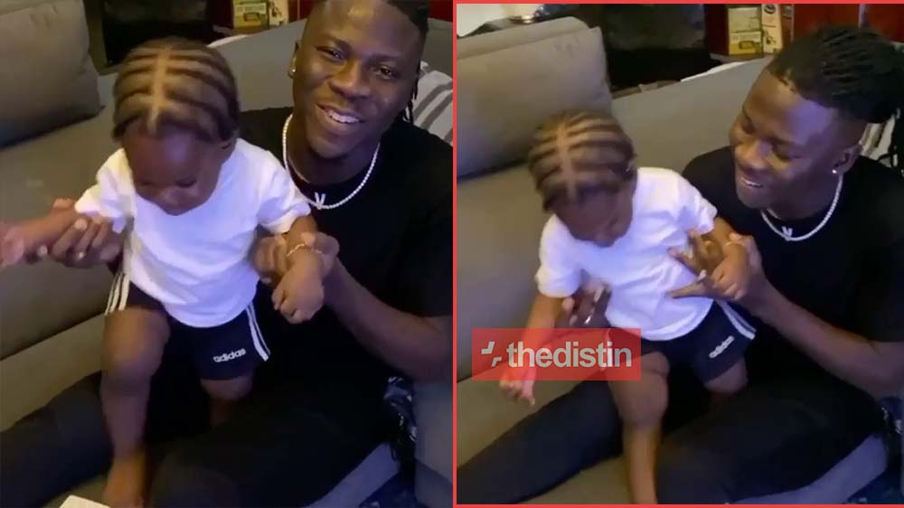Stonebwoy Shows Off His Son, Janam's Cornrow Hairstyle In Video | Watch