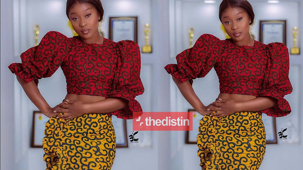 Efia Odo Covers Up As She Stuns Ghanaians In Her Gorgeous African Print | Photos