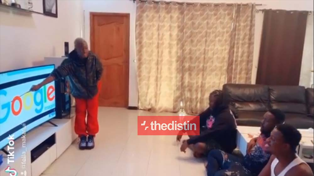"""Funny Video Of Fella Makafui Teaching Medikal And His Friends How To Pronounce """"Google"""" 