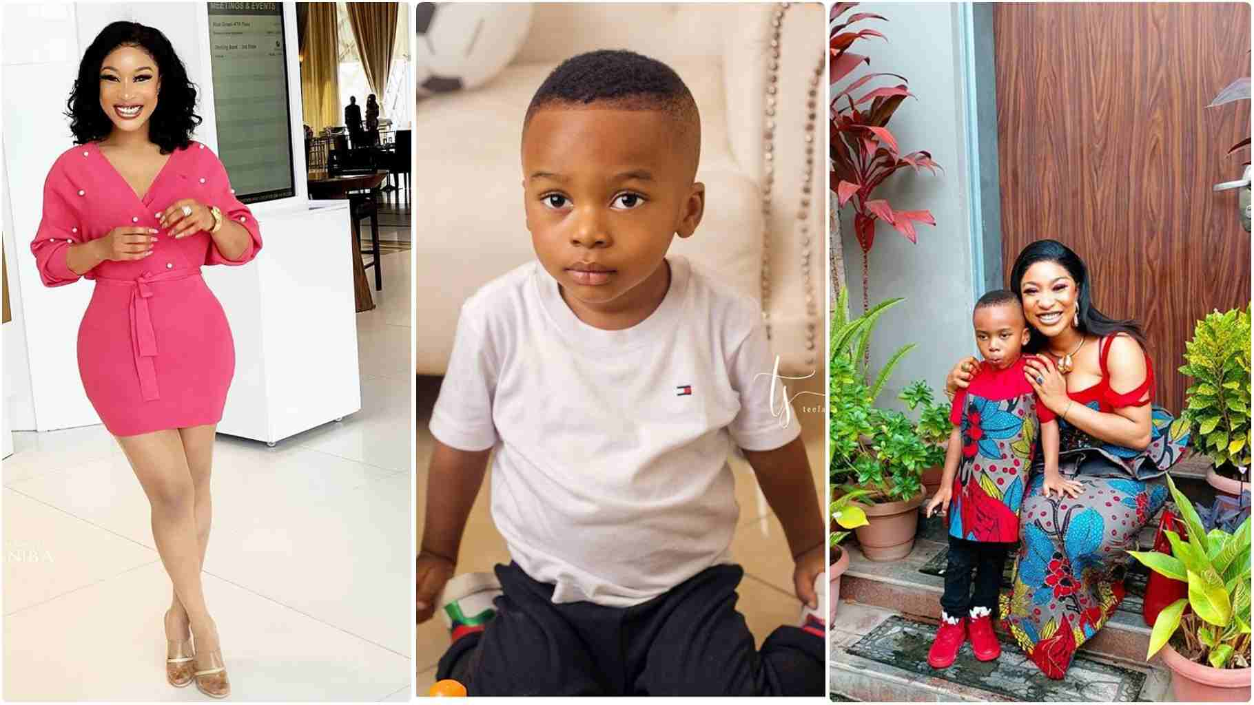 Tonto Dikeh's Son Disgraces Her By Running Away While She Plays Her New Song 'HI'