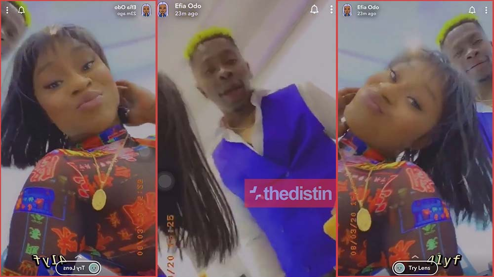 Efia Odo Makes Shatta Wale Shy As She Tours His Office   Video