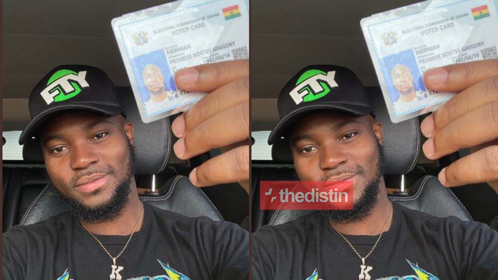 """register and be a citizen of Ghana"" - King Promise Registers For His Voter ID Card As He Advises Others To Do Same On Twitter"