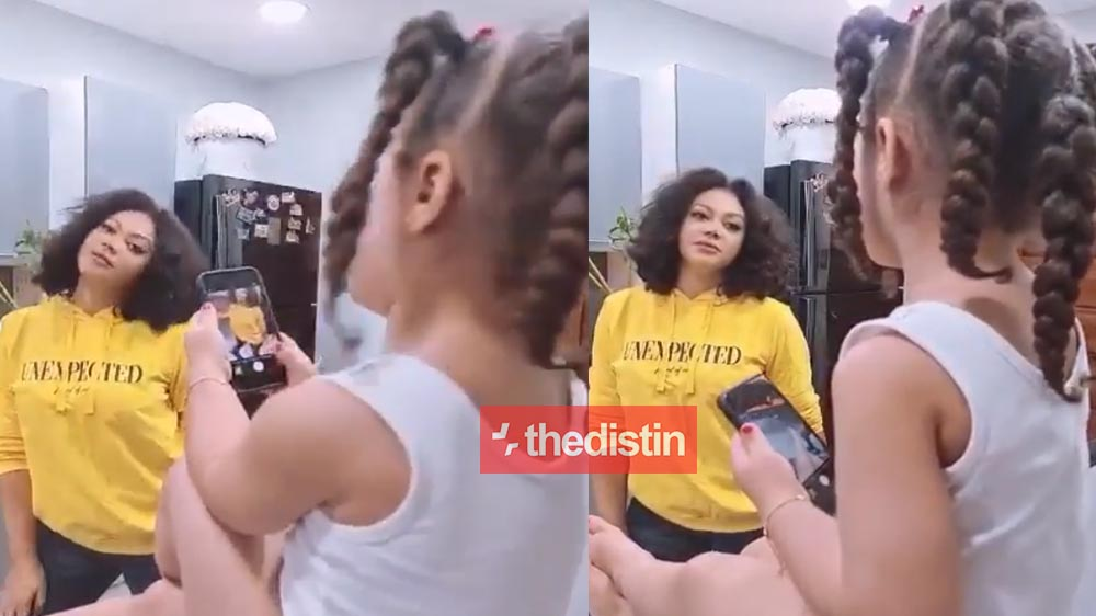 Nadia Buari Finally Shows The Face Of Her Daughter After Hiding Her For So Long | Watch Video