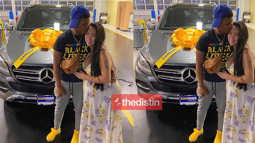 Husband Buys His Wife A Brand New Mercedes Benz After She Complained Of Not Feeling Well | Photo