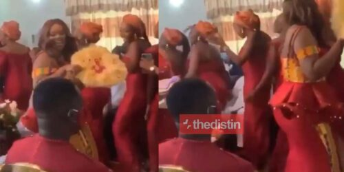 Beautiful Arrival Of Joe Mettle's Wife Salomey Selasie Dzisa And Her Bridesmaids | Watch Video