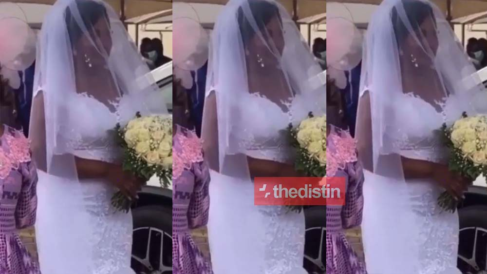 Joe Mettle's Wife To Be Salomey Selasie Dzisa Arrives In Grand Style For Her Church Wedding | Watch Video