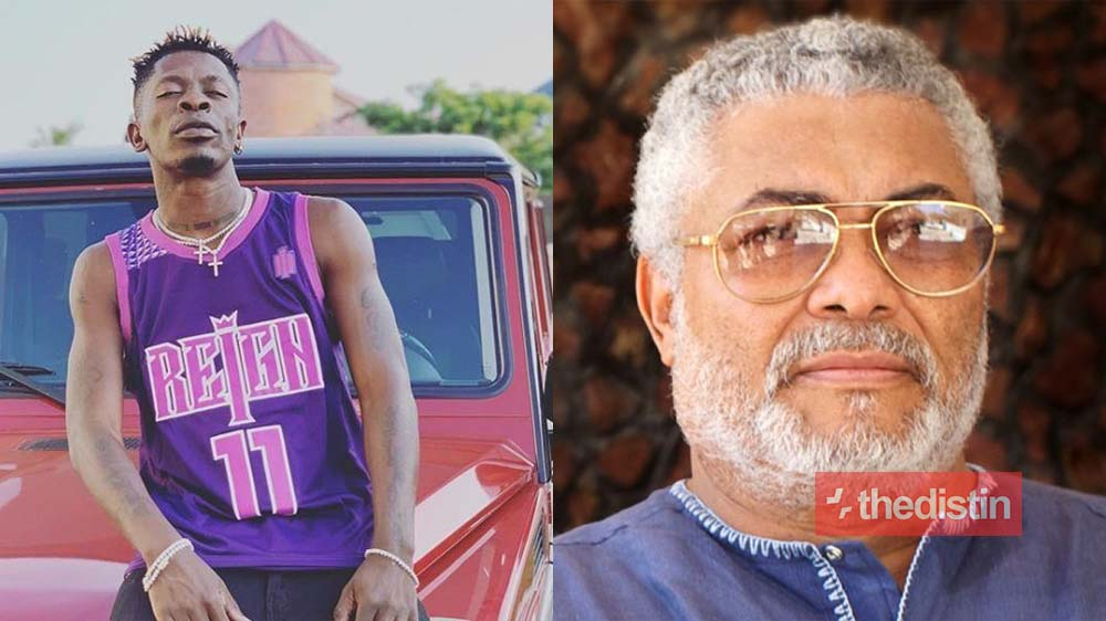 Shatta Wale Mourns The Late JJ Rawlings In New Photo