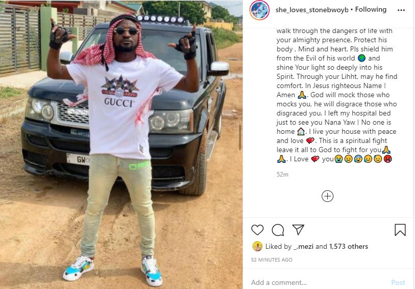 'I left my hospital bed just to see you' says Ayisha Modi as she consoles Funny Face amid his fracas with his baby mama following suicidal notes.