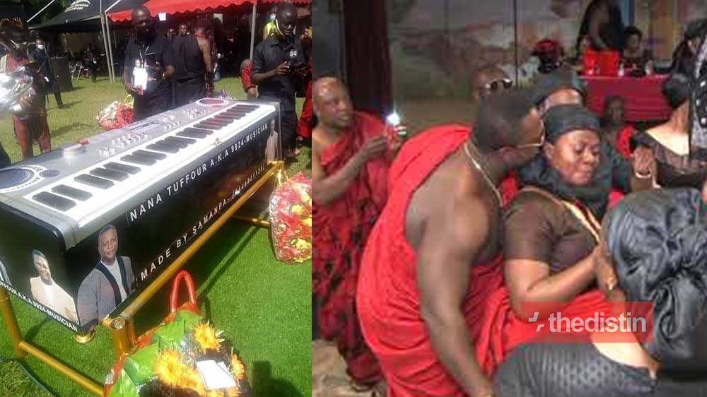 Late Nana Tuffour: Highlife Legend Buried In Piano Coffin, Videos and Photos Drop