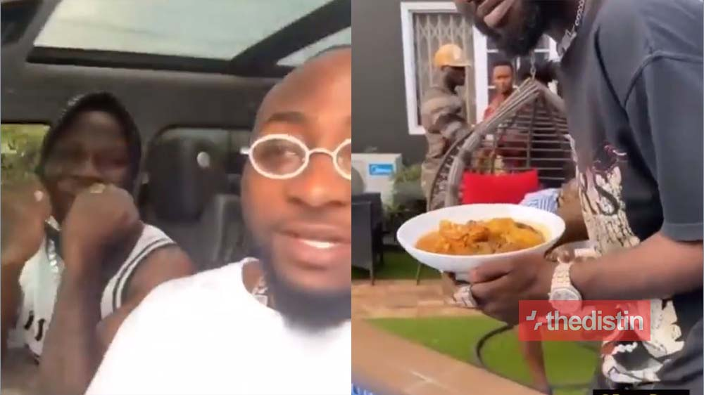 Stonebwoy's Wife Dr. Louisa Cooks Fufu For Davido & His DMW Crew As They Host Them After His Fight With Burna Boy (Video)