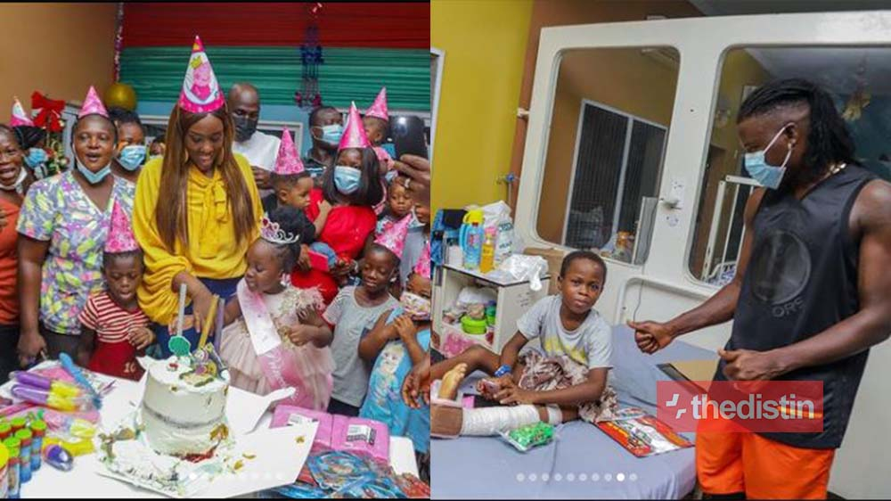 Stonebwoy Pays The Hospital Bills For Children At The 37 Military Hospital As Jidula Marks Her 3rd Birthday (Video+Photo)