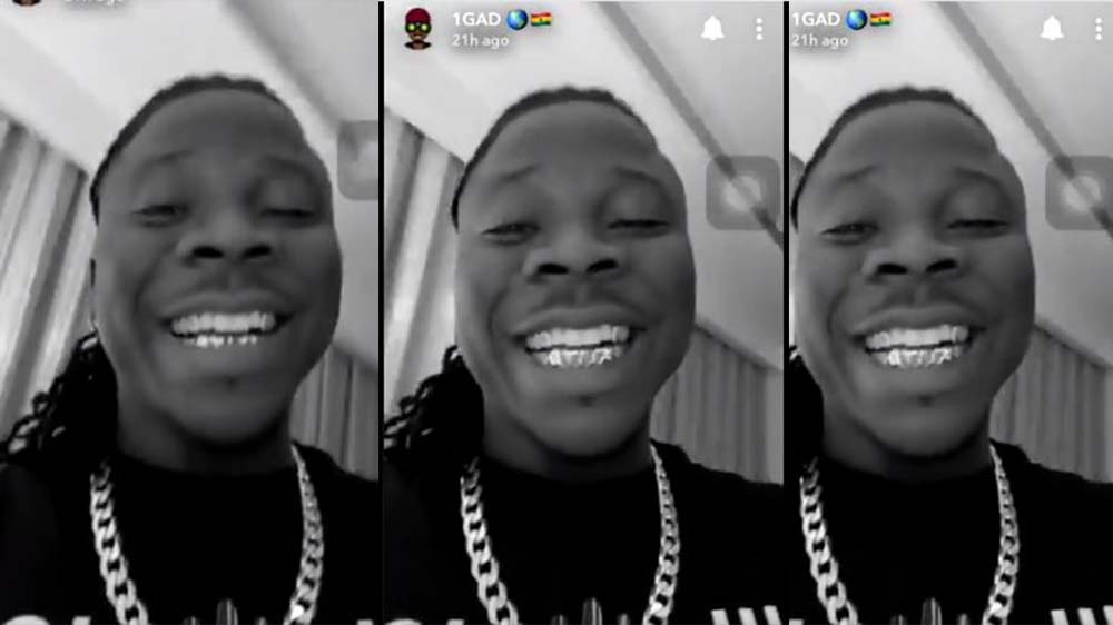 Stonebwoy Flaunts His New Gold Teeth Fixed By His Wife Dr. Louisa