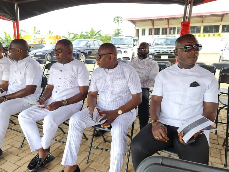 East Legon executive club members led by Dr. Osei Kwame Despite, Chairman and president of the Despite Media and Dr Ernest Ofori Sarpong attend the funeral rite of Abeiku Santana's father.
