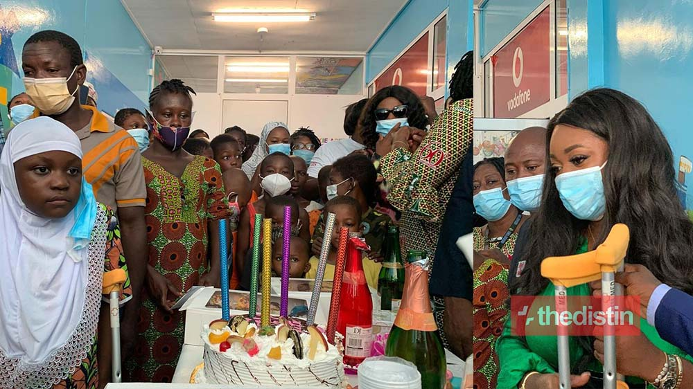 Actress Jackie Appiah Celebrates Her Birthday With Children With Sickle Cell Disease, See Photos