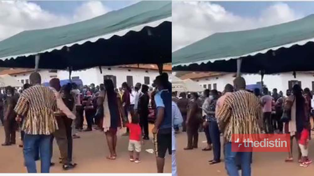 Video Of John Dumelo Helping With The Fixing Of Canopy For The Voter During The Special Voting Goes Viral (Watch)
