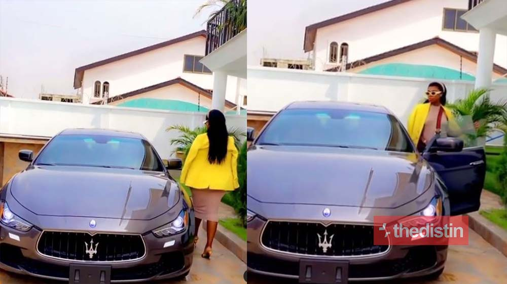 """""""Rented or Hired"""" – Netizens Troll Becca After Flaunting A Brand New Maserati (Video)"""