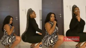 Moesha Boduong Joins The #bussitchallenge As She Twerks With Her Friend, Celebs React (Video)