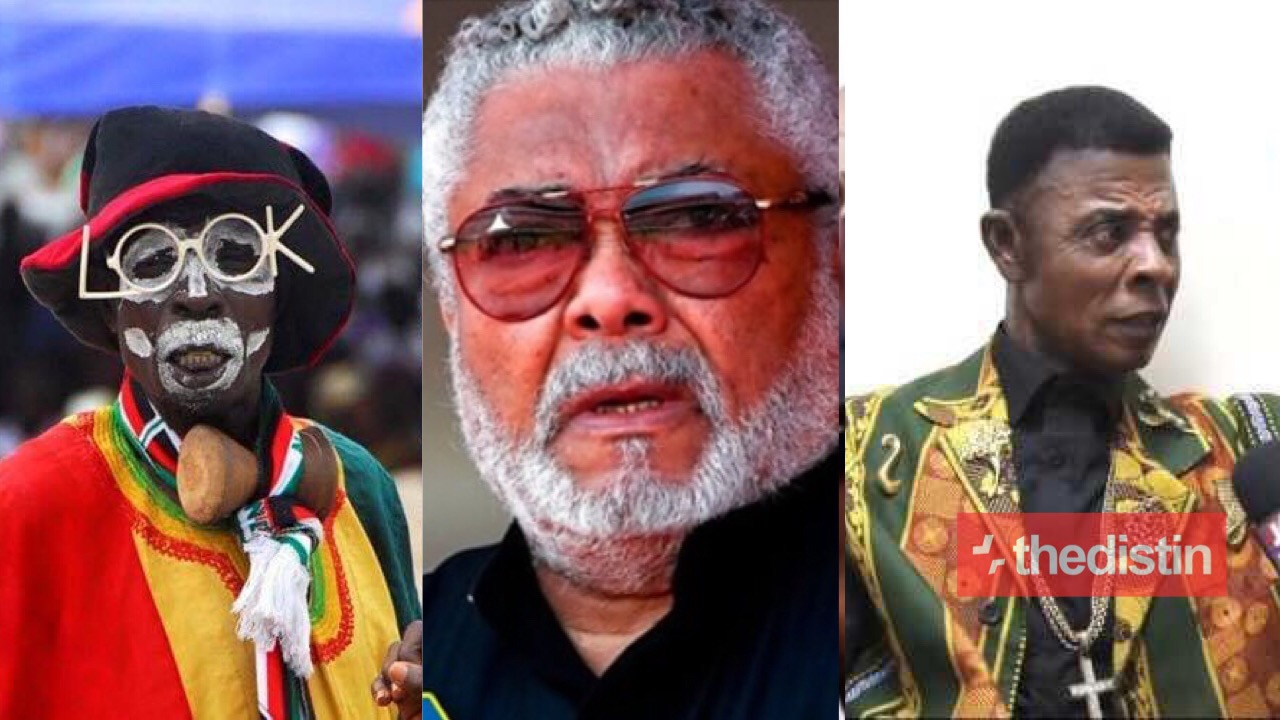 Rawlings With Comedians Bob Okala And Ajos