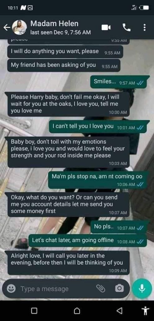 """Leaked WhatsApp Chat Of Married Woman Begging A Young Guy To """"Chop"""" Her [Photos] 2"""