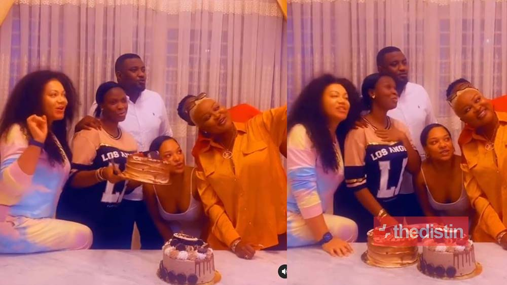 John Dumelo Celebrates His Wife Gifty On Her Birthday With Nadia Buari & Others (video)