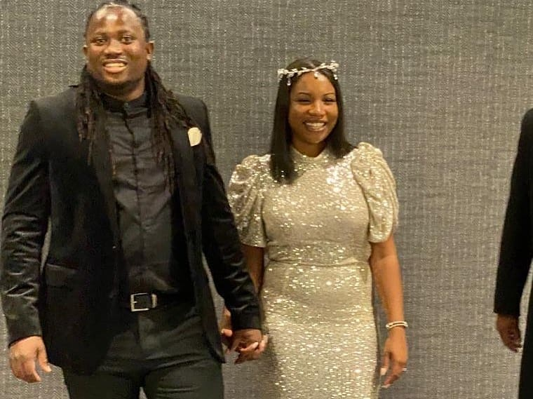 Brainy Beatz wedding with wife