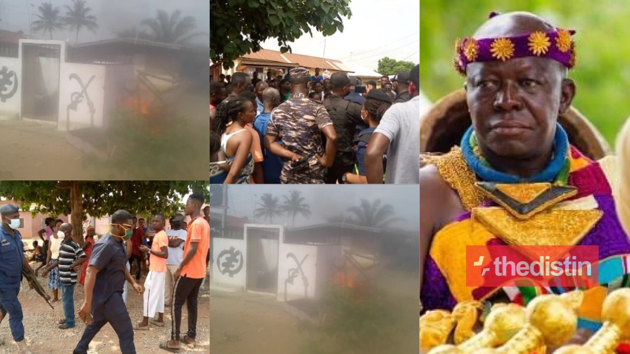Otumfuo's shrine set on fire
