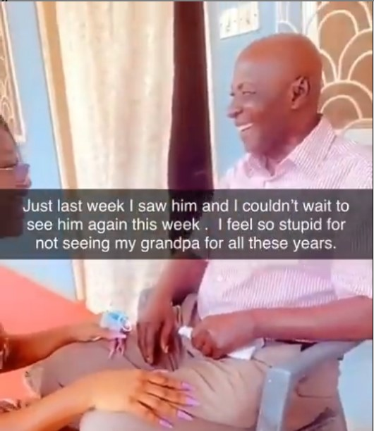 Efia Odo's loses her grandfather, The last words from the old man about Efia will shock you (video) 2