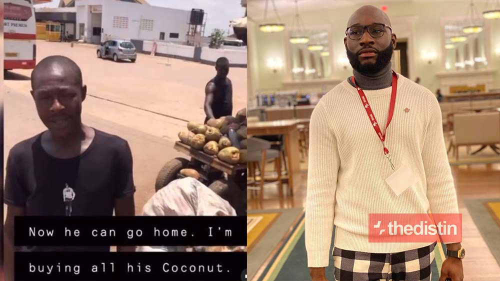 Kennedy Agyapong's Son Shows Love To Coconut Seller On The Street As He Buys Everything For Him To Go And Rest (Video)