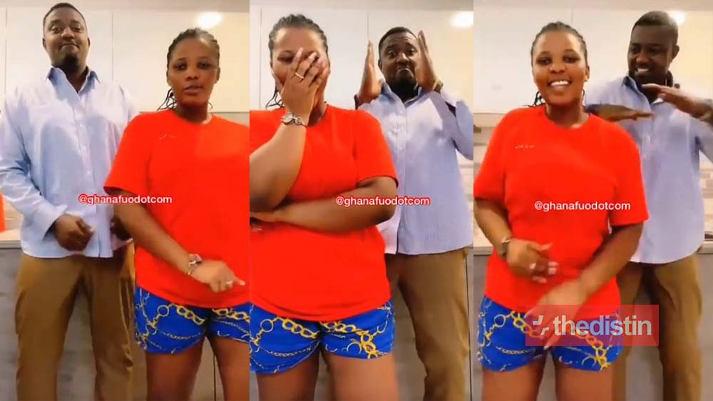 """""""see his breast"""" - Ghanaians React To Video Of John Dumelo Showing Off His Slow Motion Dance Moves (Screenshots)"""