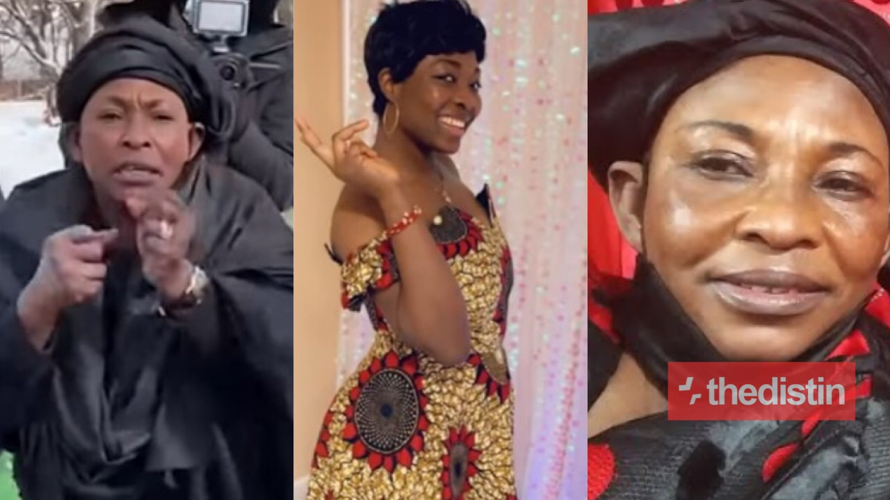 Kyeiwaa Mourns As Her 'Daughter', Miss Rebecca Sagoe Is Laid To Rest | Video