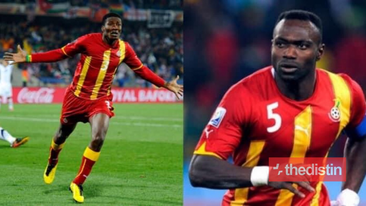 John Mensa and Asamoah Gyan