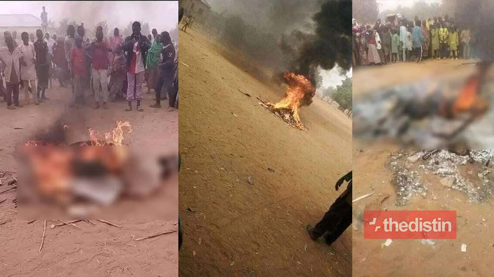 Angry Nigerians Set Water Vendor On Fire For Insulting Prophet Muhammad (Photos)