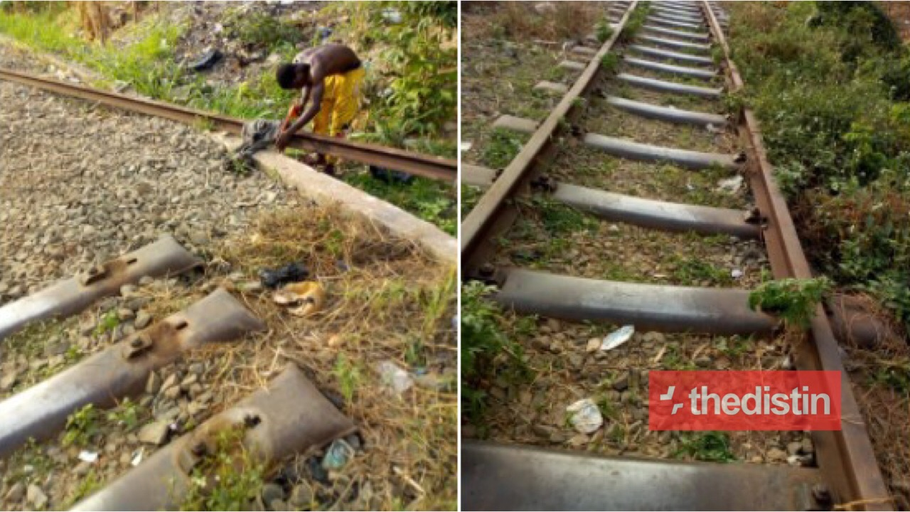Man Spotted Cutting Rail Lines Into Different Sizes