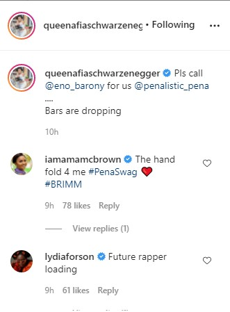 McBrown, Eno Barony, Lydia Forson, Others React As Afia Schwar's Daughter, Pena, Raps In New Video