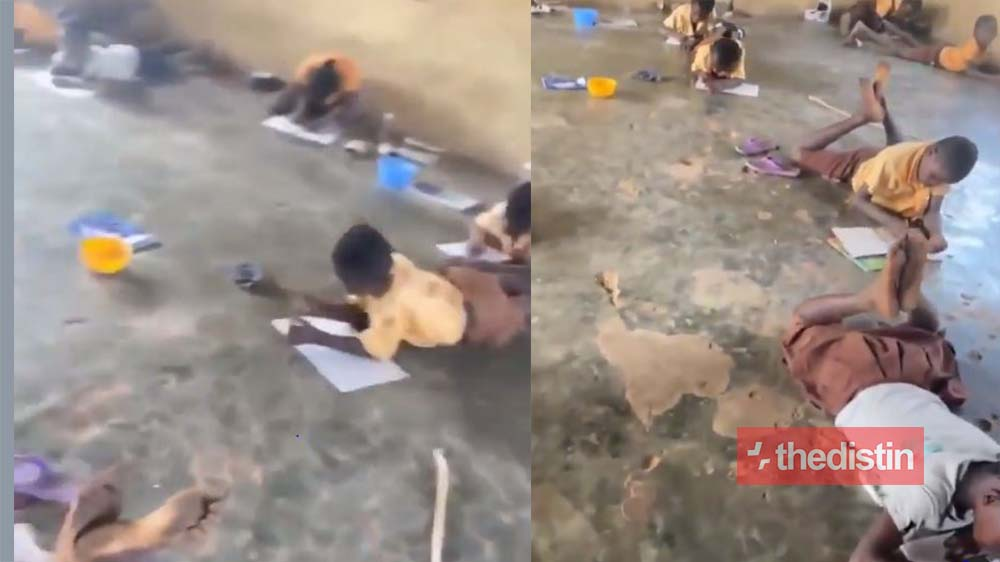 Fella Makafui Reacts To Video Of Primary School Students Writing Exams On The Floor In Ghana | Watch