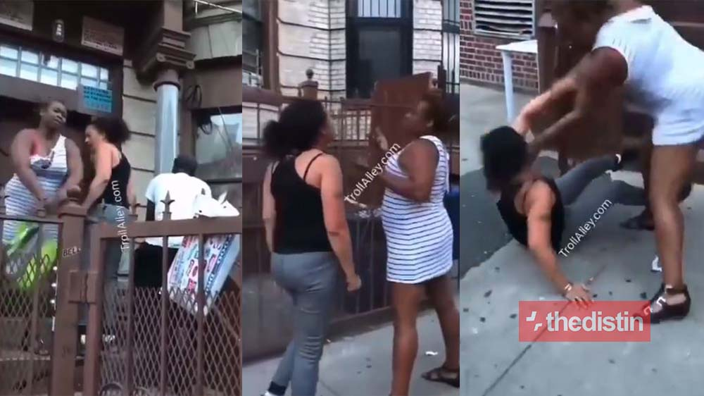 Angry Lady Beats Her White Girlfriend For Cheating On Her With A Married Man (Video)