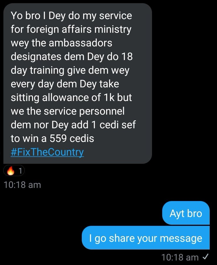 #FixTheCountry: Ambassador-designates takes Ghc1000 as sitting allowance each day during 18 days training program. 4