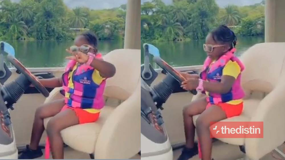 Video Of Stonebwoy's Daughter Jidula Chilling In A Yacht Causes Stir On Social Media