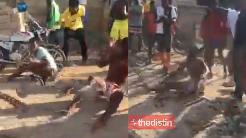 Youth Of Dansoman Mercilessly Beat Up Thieves After A Failed Robbery   Video