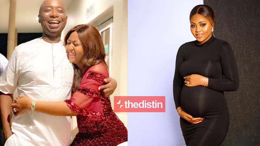 Regina Daniels' 59-Year-Old Husband Prince Nednwoko Confirms Regina Is Pregnant As He Shares Baby Bump Photos Of Her