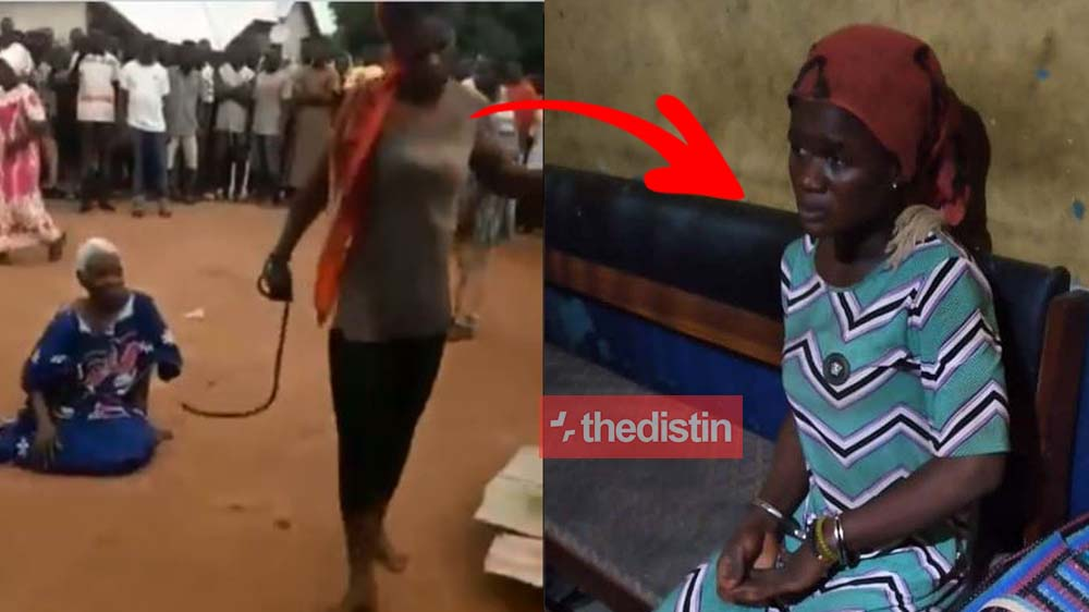 Photos: Lady Who Beat 90-year-old Akua Denteh To Death Looks Helpless After She's Arrested