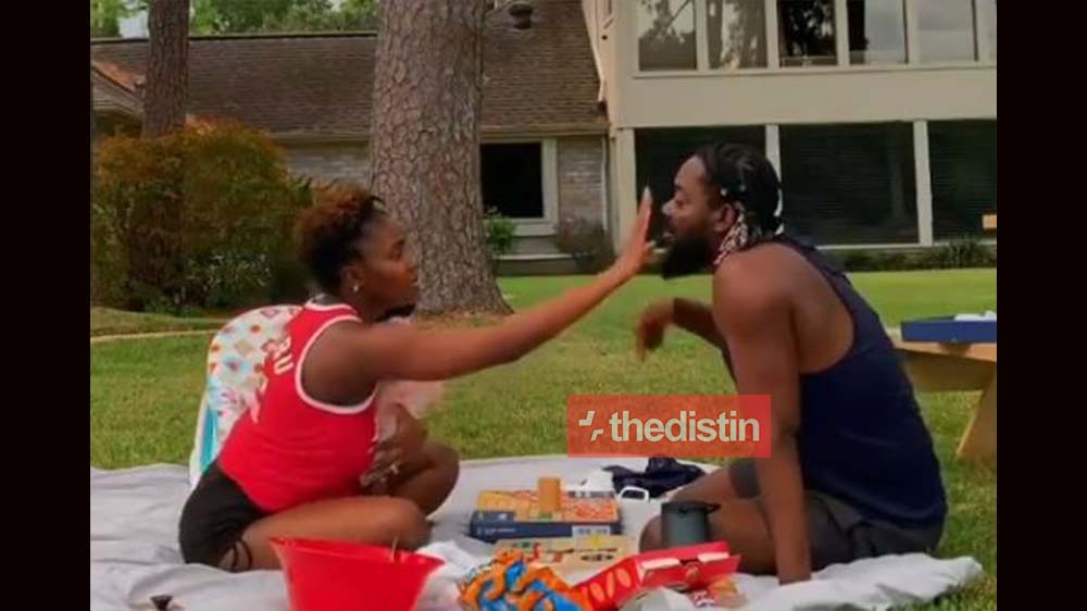 Adekunle Gold And His Wife Simi Chopping Love With Their Daughter Adejare Kosoko | Watch Video