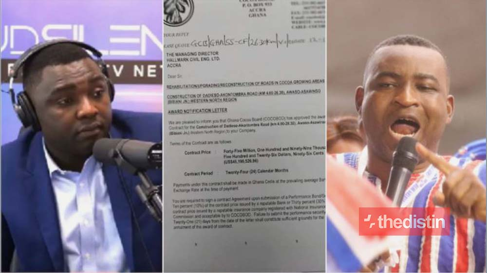 Exposed: Kelvin Taylor Unveils Shocking $45 Million Cocoa Road Construction Scandal By Chairman Wontumi (Photo)