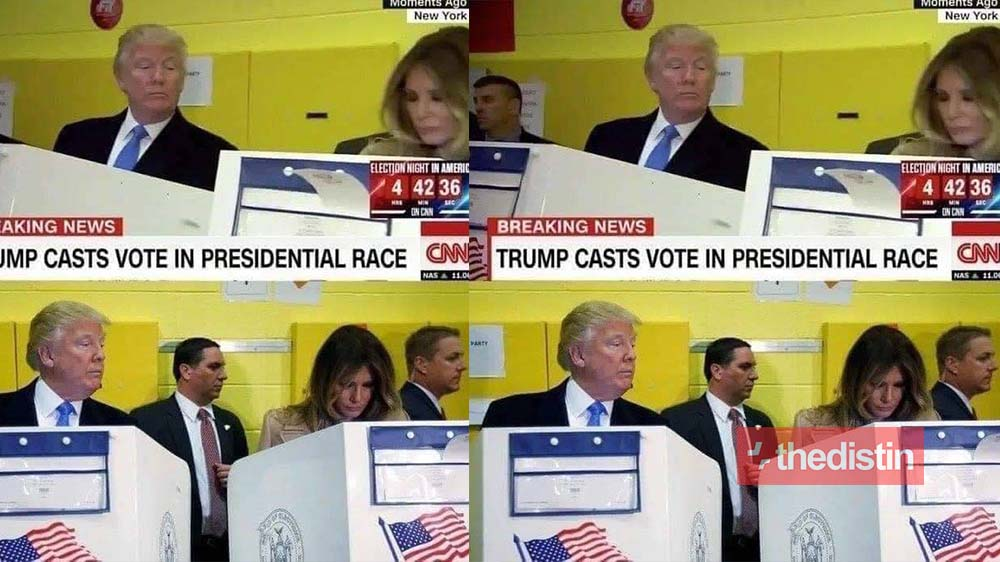 US Presidential Elections: Donald Trump Glancing On Melania As She Cast Her Vote (Photo)