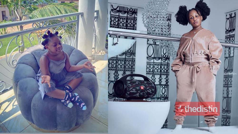 Actress Nana Akua Addo Causes Stir On Social Media With Beautiful Photos Of Her Daughter To Celebrate Christmas (Videos)