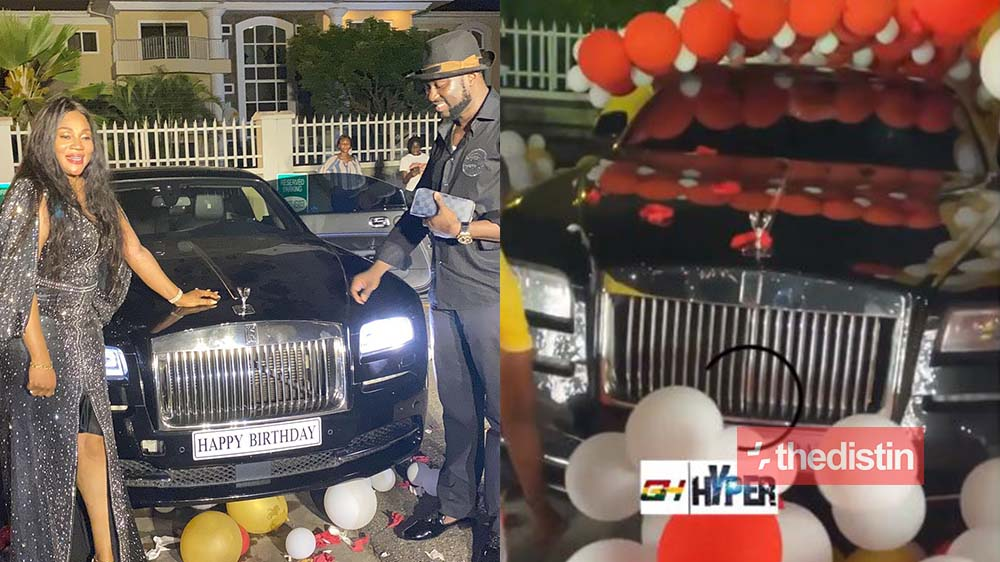 Millionaire Dr Sledge Surprises His Wife Mrs Nana Ama Sledge With A Customized Rolls Royce As Birthday Gift (Photo)