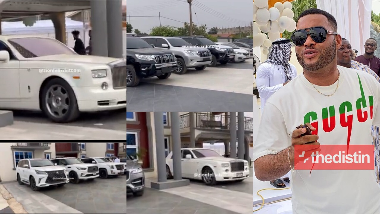 Kwadwo Safo Jnr's car in his Mansion