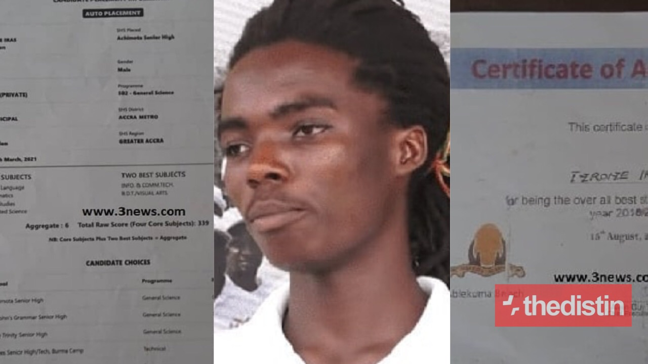 Tyrone Iras Marghuy BECE Results and other certificates