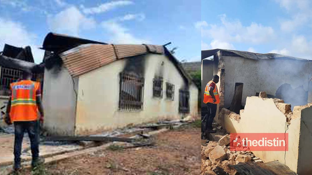 Breaking: Family Of Four Burnt To Death In Fire Outbreak In Manso Aponapon, Ashanti Region (Phtotos)